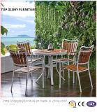 Todos los tiempos Polywood para el jardín al aire libre que empila el metal que cena sillas en el restaurante de los bistros del patio (TG-1292)