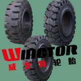 600-9 압축 공기를 넣은 포크리프트 단단한 타이어, Forkkift 단단한 타이어 6.00-9