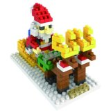 14889112マイクロブロックキットのクリスマスシリーズブロックは創造的な教育DIYのおもちゃ-サンタクラウスセットした