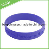 Heißer verkaufender GummiDebossed Wristband