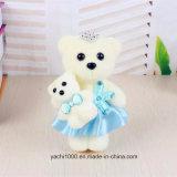 Mini jouet mignon d'ours avec la robe pour des cadeaux de jour de mère