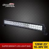 barre d'éclairage LED de la jeep 12V du faisceau 4X4 ATV d'inondation d'endroit de 23inch 126W