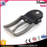 Custom Matt Silver Boucle de ceinture métallique en cuir automatique (22mm)