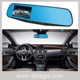Rectángulo negro de Rearview del espejo de parte posterior de opinión del coche granangular de la cámara