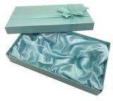 Коробка подарка высокого качества бумажная с Silk тесемкой и корпией