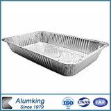 Устранимый лоток алюминиевой фольги принимает вне контейнеры еды (GD-52120)
