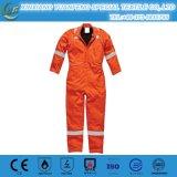 Blauwe Oranje Katoenen Brand - de Antistatische Beschermde Uniformen van de vertrager