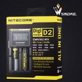 Carregador de bateria autêntico de 100% Nitecore Digi D2 para a bateria recarregável