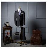 최신 판매 주문 맞춤옷 최신 디자인 외투 바지 남자 모직 한 벌