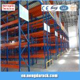 Aménagement en acier de mémoire de crémaillère d'entrepôt dans le système de stockage