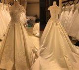Vestido de vestido de casamento de amostra real Satin