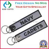 De Geborduurde Marine Keychain van het Embleem van de Polyester van de manier Customzied