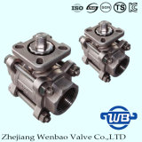3-PC Female schroefdraad CF8M Ball Valve ISO Montage Pad