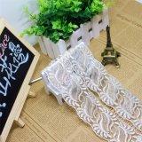 Merletto netto di nylon della maglia di immaginazione della guarnizione del ricamo del poliestere del merletto del commercio all'ingrosso 5cm della fabbrica del ricamo di riserva di larghezza per l'accessorio degli indumenti & tessile & tende domestiche