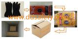 Ddsafety 2017 까만 유액에 의하여 돋을새김되는 그립 및 구른 팔목 일 장갑