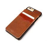Ультра тонкое кожаный гнездо для платы крышки случая телефона для iPhone7