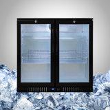 Refrigerador da barra com a porta de vidro para Undercounter