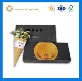 Коробка пакета торта луны с внутренним подносом (роскошный бумажный материал)