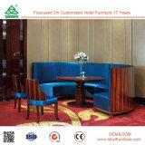 Constructeurs à la mode de meubles de salle à manger de présidence de bras de siège unique de tissu