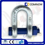 Hot DIP Galvanized Bolt Type Anchor Chain Shackle com Pin de segurança / G2150 Us Tipo Forging Shackle