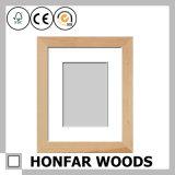 Festes Holz-weißer Abbildung-Foto-Rahmen mit weißer Matte