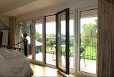 2017 portes de pliage en verre en aluminium de modèle de mode, prix de porte de pliage d'approvisionnement d'usine