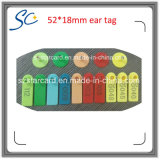 5218mm 6colors Ear Ear Ear Tag with Number Printing