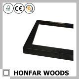 Matt-schwarzes modernes festes Holz-Rahmen-Formteil
