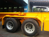 40 voeten 3 de Semi Aanhangwagen van de Chassis van de Container van Assen/Enige Band