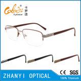Стекел Eyeglass Eyewear высокого качества рамка Semi-Rimless Titanium оптически (8413)