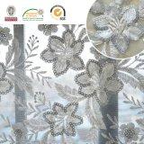 Nueva flor 139 de la tela Shine+Sequin del cordón del bordado del diseño de la Caliente-Venta