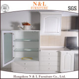 N&L autoguident les meubles en bois de cuisine de couleur blanche de meubles