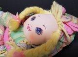 Muñeca de trapo de encargo del paño de la fábrica de ICTI con el pelo del hilado