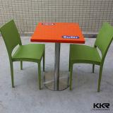 Таблица квадрата мебели трактира твердая поверхностная каменная мраморный обедая (T1702076)