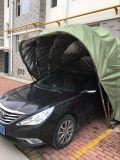 カヤックの陰は無人の空気の手段の避難所車のガレージを覆う