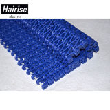 Couleur bleue Easy Clean Flush Grid Plastic Modular Conveyor Belt