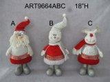 """18 """" H que colocan el regalo de la decoración de la Navidad de Santa, del muñeco de nieve y de los alces"""