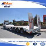 新しいISO9001 4車軸半50トンの平面トラックのトレーラー