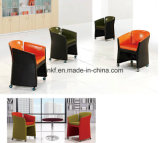 Presidenza di base metallica del sofà di svago del tessuto della mobilia elegante del salone (UL-JT829)