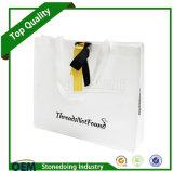 Sacos de Tote não tecidos lisos do Polypropylene da cor com impressão feita sob encomenda