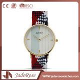 Relógio de forma listrado das mulheres de quartzo da alta qualidade