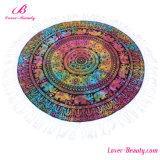 Хода полотенца пляжа Roundie Mandala Любовник-Красотки декор циновки йоги Hippie гобелена круглого индийский