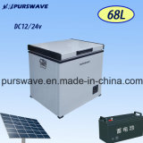 Purswave Bd / Bc-68 68L refrigerador portátil del DC del vehículo por el compresor para acampar 12V24V220V110V-25degree Accionado por solar por la batería