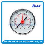 Alerm 빨간 포인터 압력계를 가진 두 배 바늘 압력 측정하 압력 계기