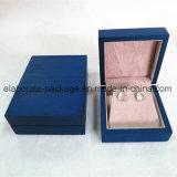 Caixa de embalagem Matte de madeira real do quadrado da caixa de jóia do revestimento