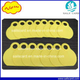 markering van de Hals van de Kleur van 80*65mm de Gele Dierlijke met het Teken van de Laser