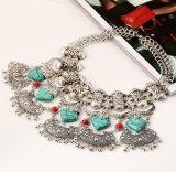 Retro monili della collana del collare della nappa del turchese di modo
