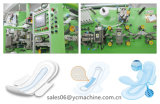 Kotex Cleanwear 매우 얇은 여자 패드에 의하여 U를 위한 500PCS/Min 위생 냅킨 기계