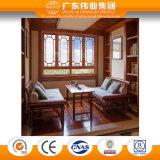 Fábrica de aluminio del Top Ten de China ventana abierta plana clásica de 65 series