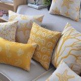 Напечатанная подушка хода желтого цвета дюйма 18X18 для салона и места